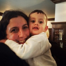 Cuddles for Mummy. Eleanor and Myles.