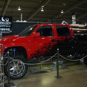 lift kit, custom paint, wheels, diesel performance