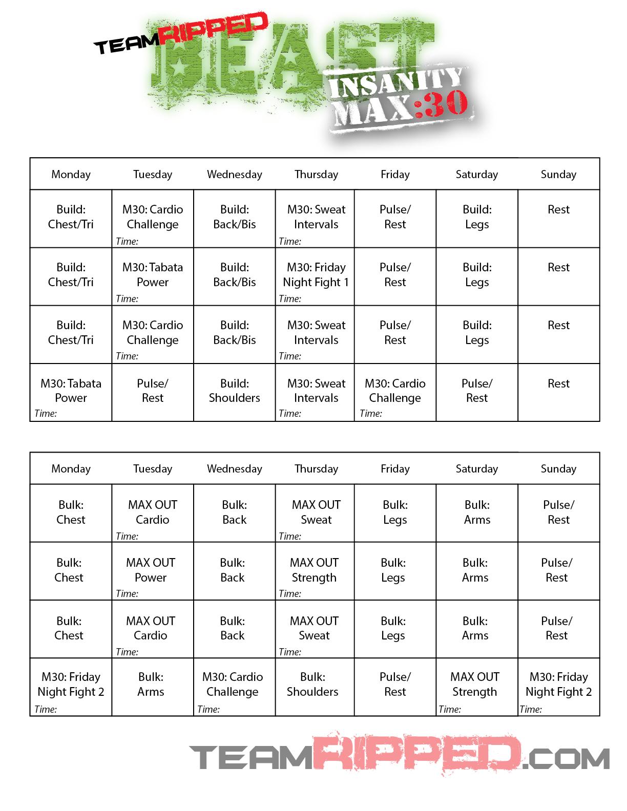 My Hybrid Worksheets Calendars
