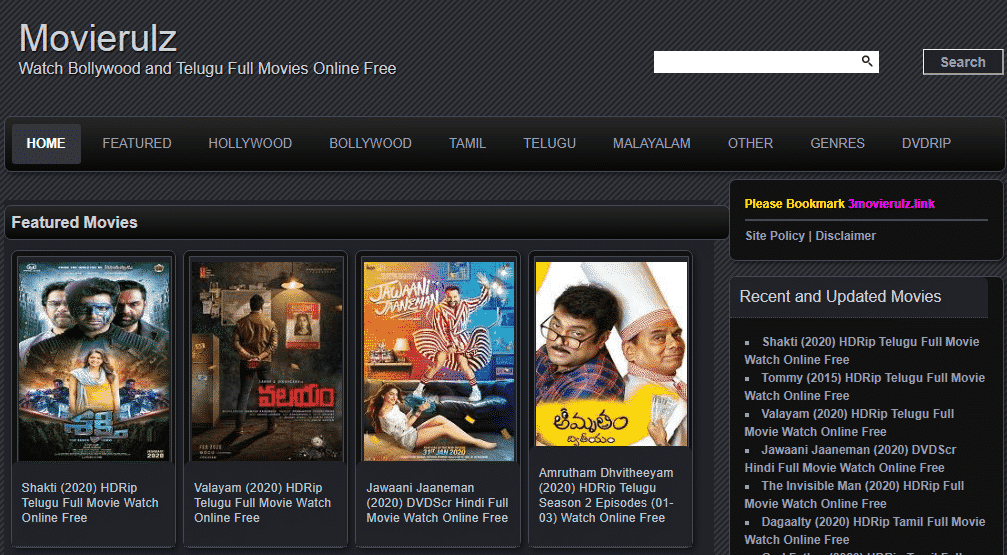 Movierulz Watch and Download bollywood and Telugu Full Movies Online Free