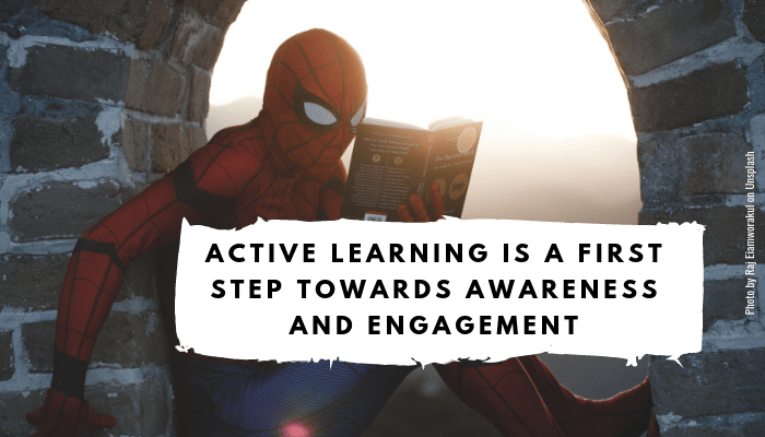 Active learning around sustainability will already be a first steps towards creating awareness and engagement – and therefore initiating the change from within!
