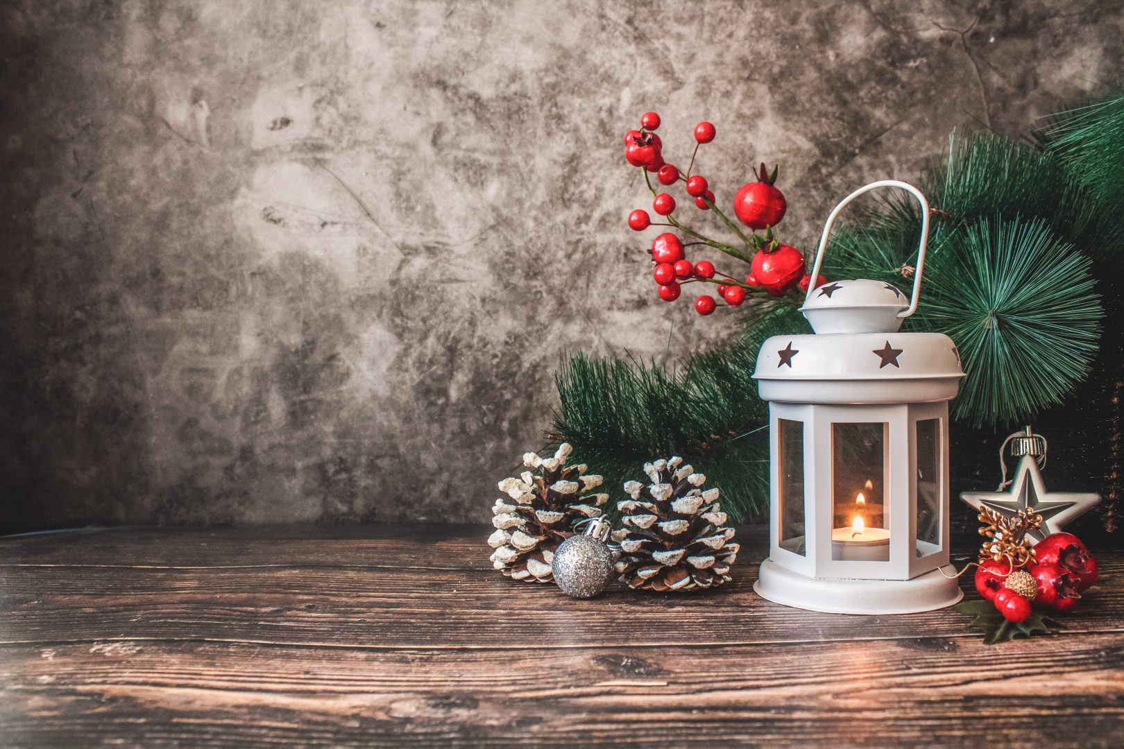 white candle lamp