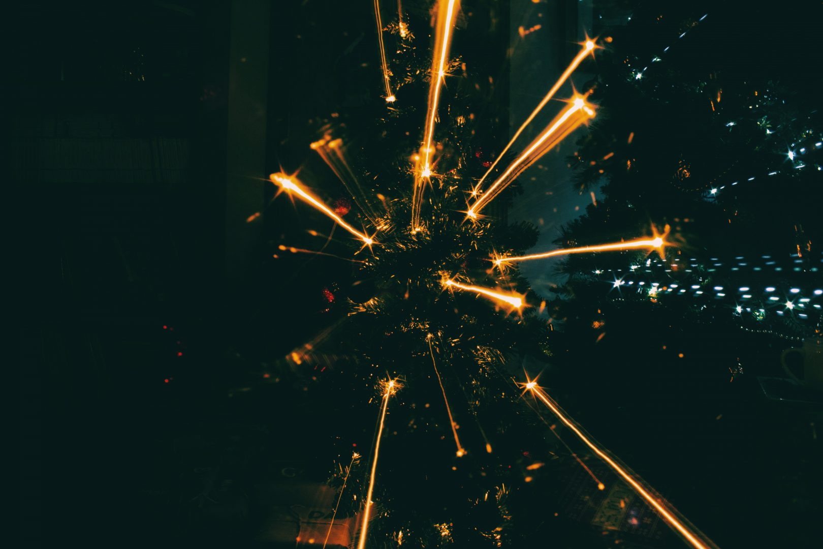 low angle photography of launched fireworks