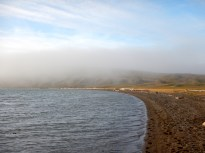 Fog on shore