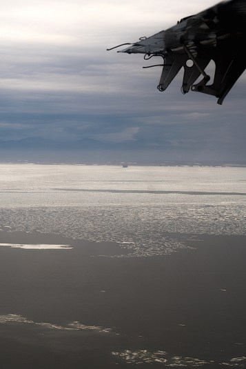 Sea ice in the distance
