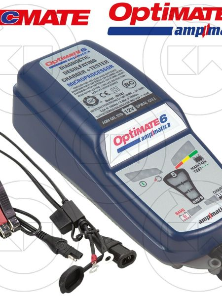 CARICA BATTERIE E MANTENITORE MOTO AUTO OPTIMATE 6 AMPMATIC TM180