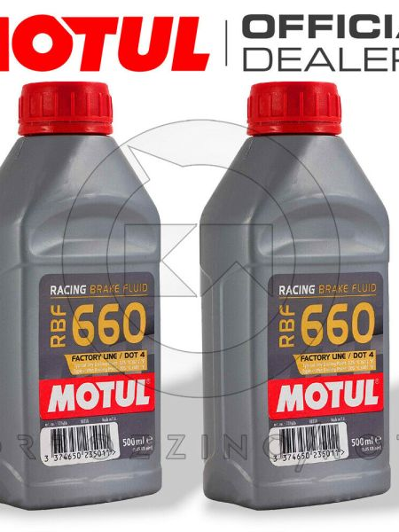 OLIO MOTUL RBF 660 FACTORY LINE DOT 4 RACING PER FRENI FRIZIONI 2 X 500 ML