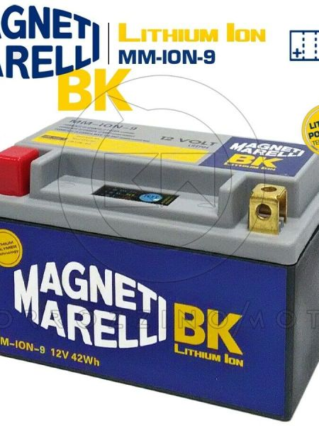 BATTERIA LITIO MAGNETI MARELLI MM-ION-9 YTX12 ADLY INTERCEPTOR 4T 150 2005-2008
