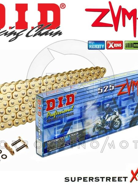CATENA DID 525ZVMX Gold&Gold ORO X-RING 120 MAGLIE KTM LC8 950 ADVENTURE S 2002