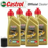 KIT TAGLIANDO OLIO CASTROL POWER 1 RACING 10w30+FILTRO HONDA VT 1300 Interstate