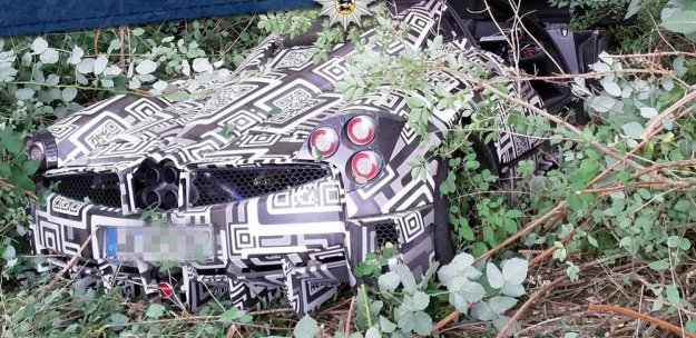 Wrecked Pagani in Germany