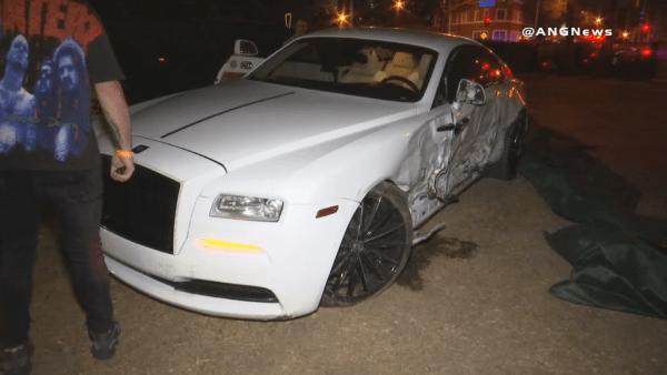 Post Malone Rolls Royce wreck