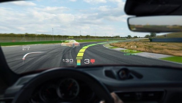 Porsche HEads-Up Hologram