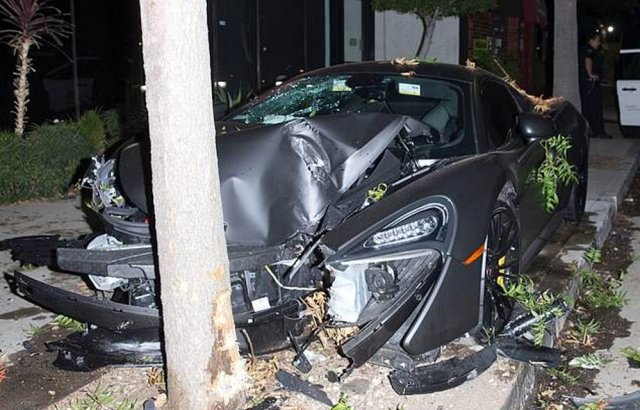 Wrecked McLaren of Terrence J Driver Side