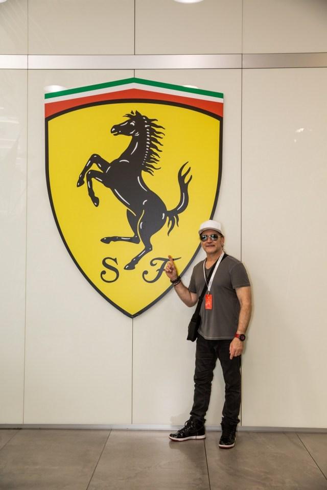 Eric Singer visits Ferrari