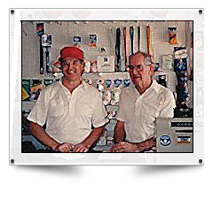 Bob and Ben Ryan, circa 1992 Mike Ryan & Sons Sporting Goods