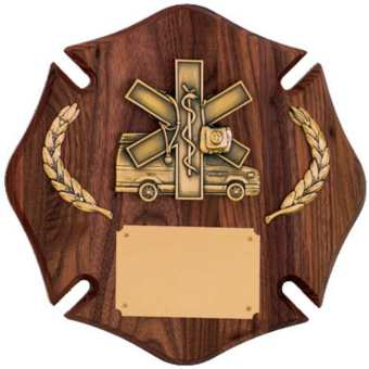 Custom Fire Cross Plaque
