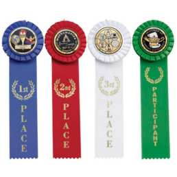 Ribbons with Rosettes
