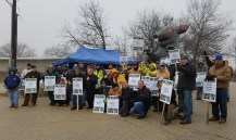 Seventy-four Teamsters Local 710 members begin their unfair labor practices strike at 7:00 a.m. on Tuesday, January 17, 2017.