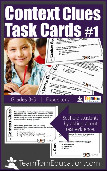 The best teaching resources scaffold students in understanding how to use context clues!