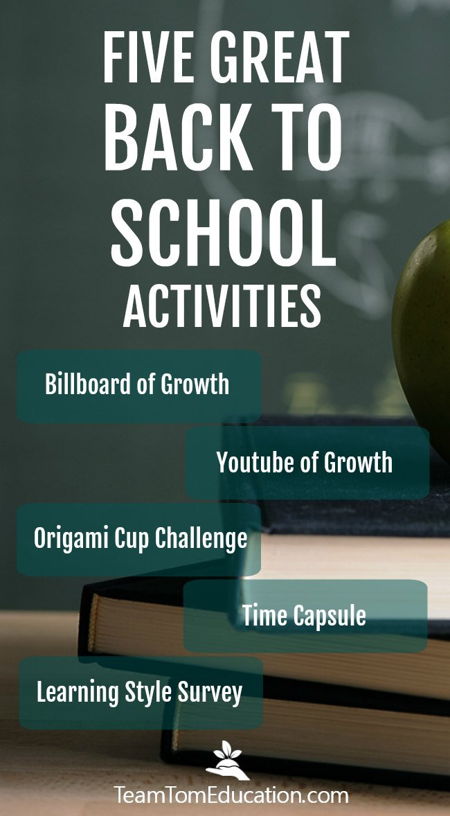 Back to school ideas and activities that engage students!