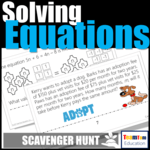 Scavenger Hunt Task Cards are perfect for Solving Equations.