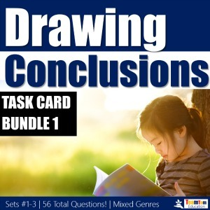 Drawing Conclusions Task Card Bundle