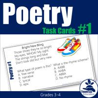 Poetry Task Cards from TeamTom on TeachersPayTeachers