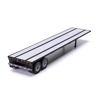 flatbed trailer paper model kit black railroad