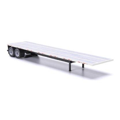flatbed trailer paper model kit white railroad
