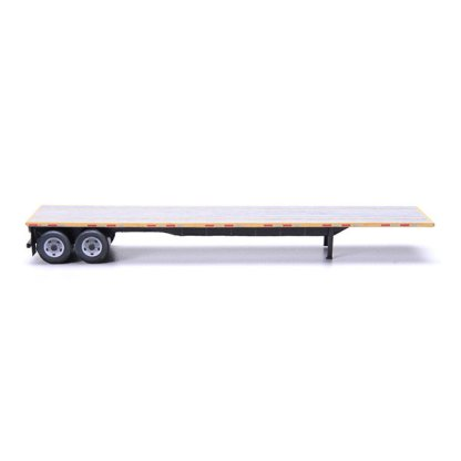 flatbed trailer paper model kit yellow railroad