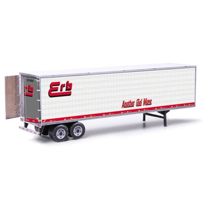 semi-trailer erb paper model kit railroad