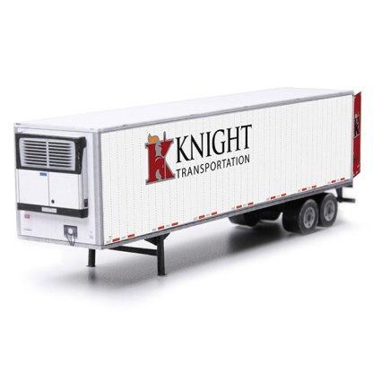 semi-trailer knight paper model kit railroad