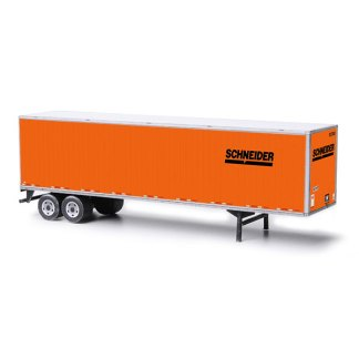 semi-trailer schneider paper model kit railroad