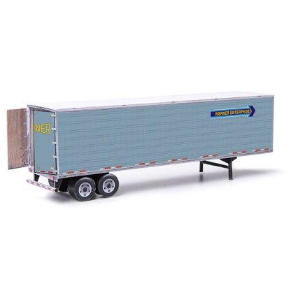 semi-trailer werner paper model kit railroad