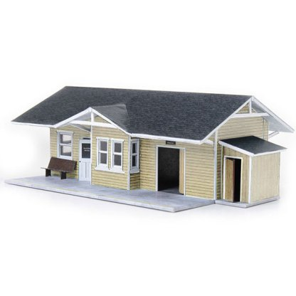 train depot wheat paper model building railroad