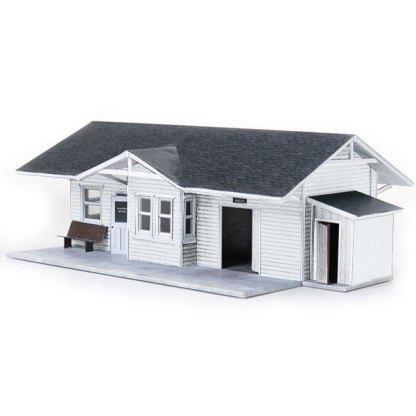 train depot white paper model building railroad