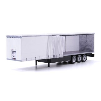 euroliner trailer paper model kit white