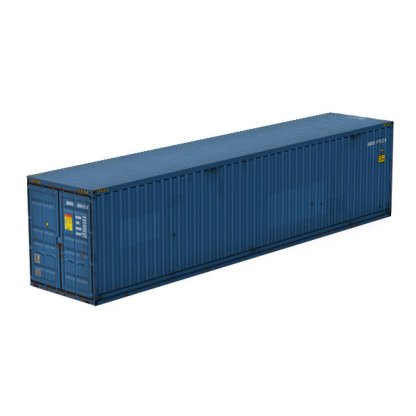 intermodal container blue color paper model kit