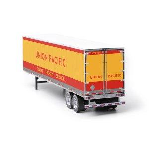 Semi-Trailer Union Pacific Paper Model Kit