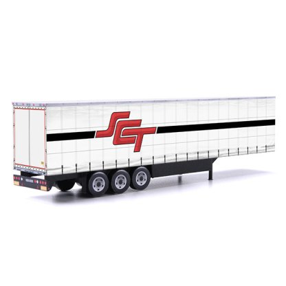 SCT logistics card model euroliner trailer
