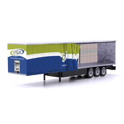 visa global logistics euroliner trailer paper model