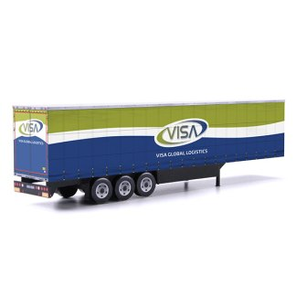 Visa Global Logistics Euroliner Trailer Card Model