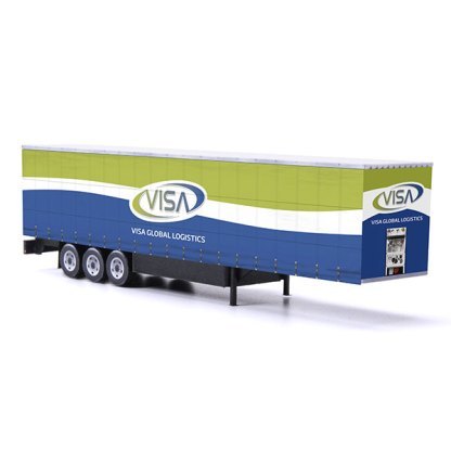 visa global logistics card model euroliner trailer