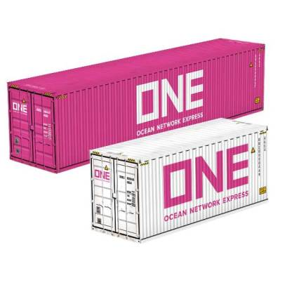 Ocean Network Express ONE shipping containers