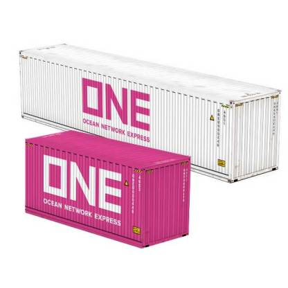 Ocean Network Express ONE shipping container