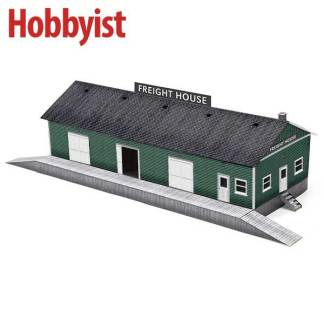 Freight House in Green Lapboard