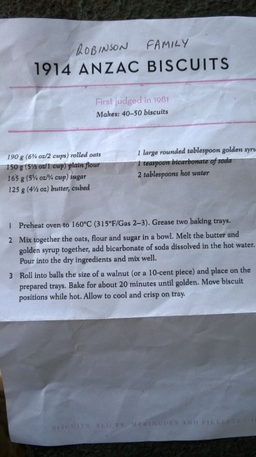 Original recipe left in a geocache