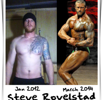 Steve Rovelstad -Before After-  Building Muscle - NPC Bodybuilding Prep Maryland