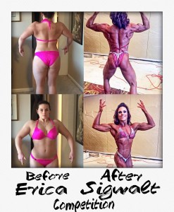 Erica Sigwalt - Before & After - Competition Personal Training Client